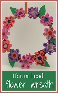 How to make a Hama bead flower wreath
