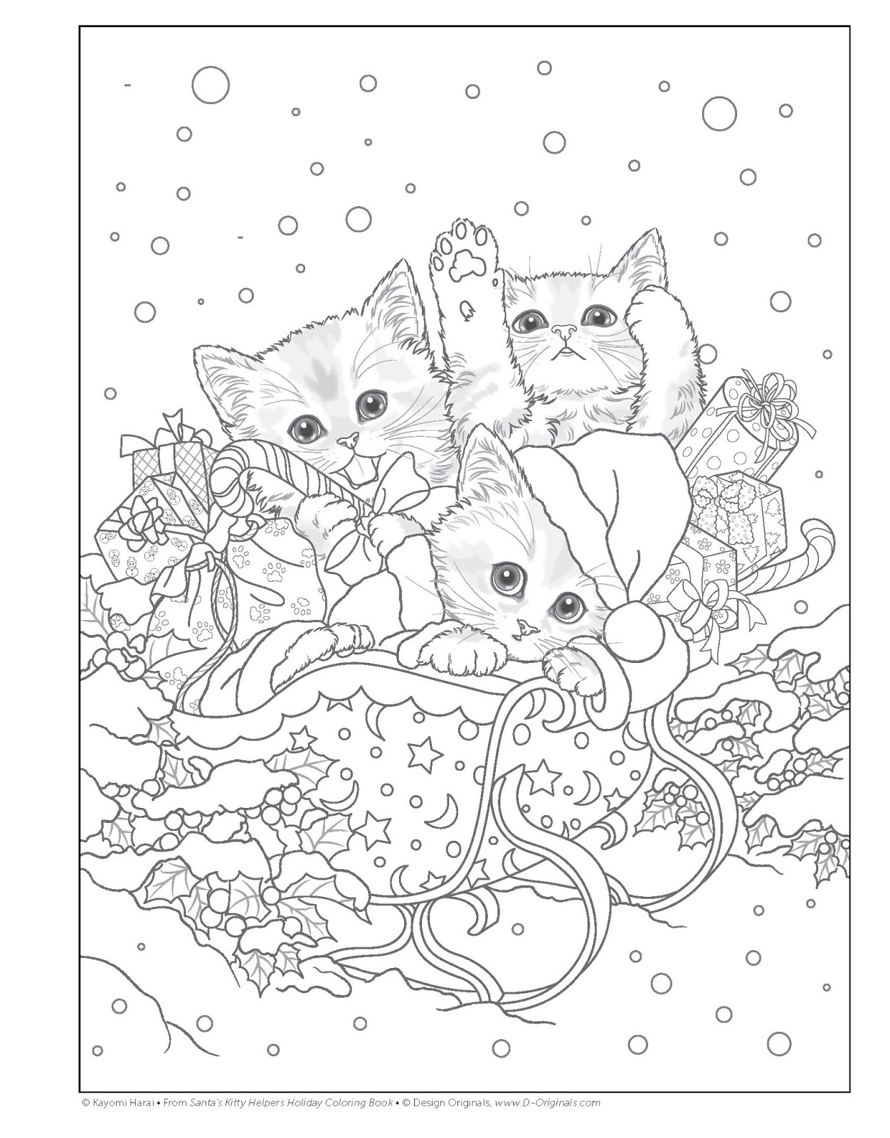 i plan to give santas kitty helpers holiday coloring book to my granddaughter as a gift for thanksgiving