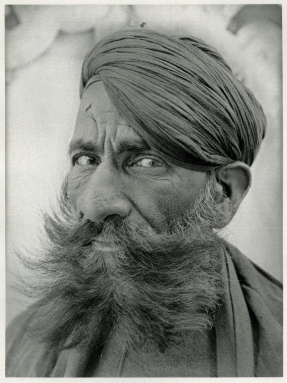 Portrait of A Rajput Man with Beard in Udaipur, Rajasthan, India - 1928