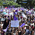 Thousands protest violence against women in Mexico cities