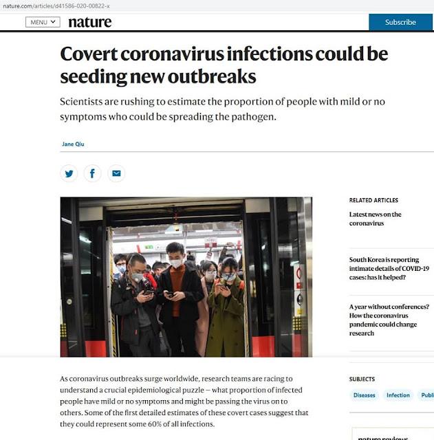 60% người mang virus chưa được phát hiện tại Vũ Hán?