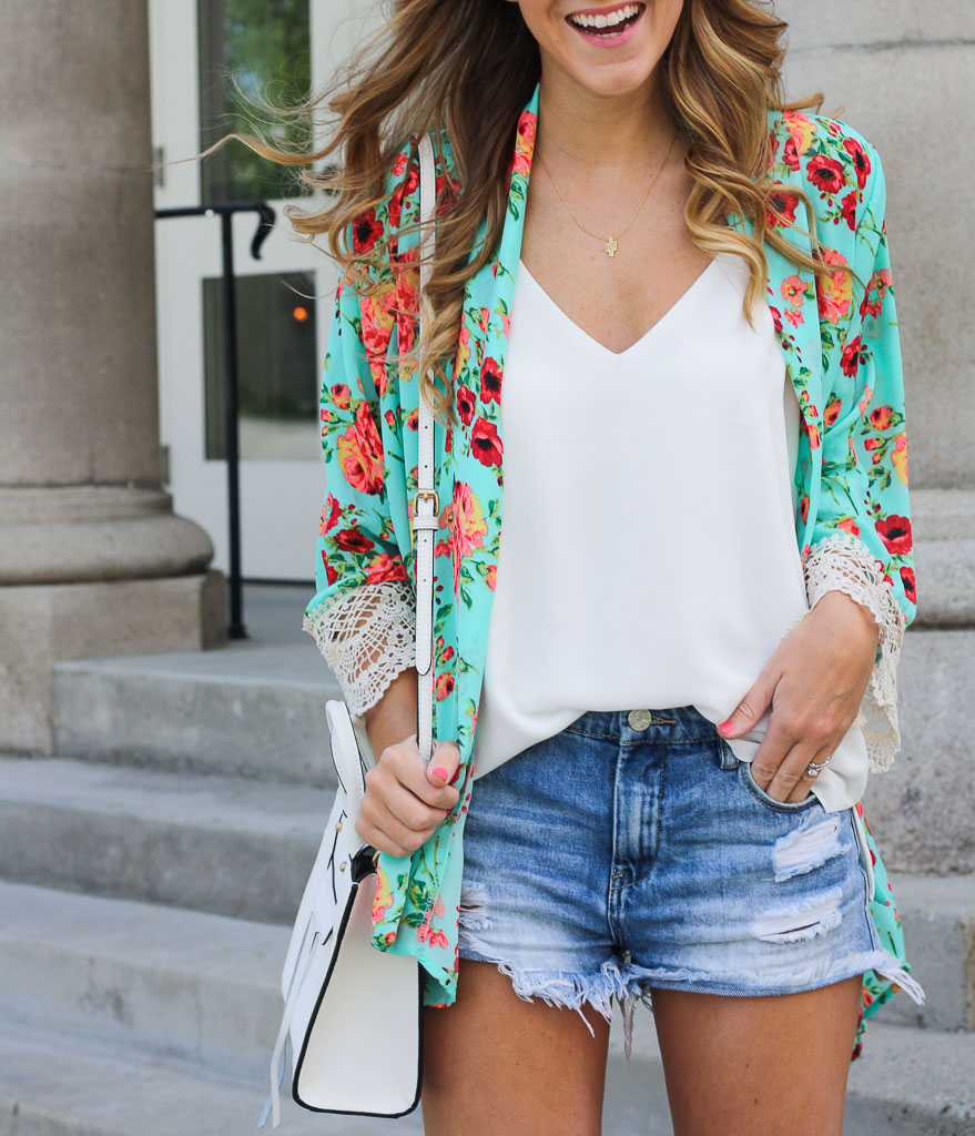 Floral and Lace Kimono - Twenties Girl Style