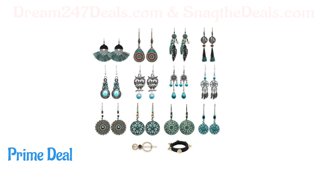 50% off  12 Pairs Dangle Earrings