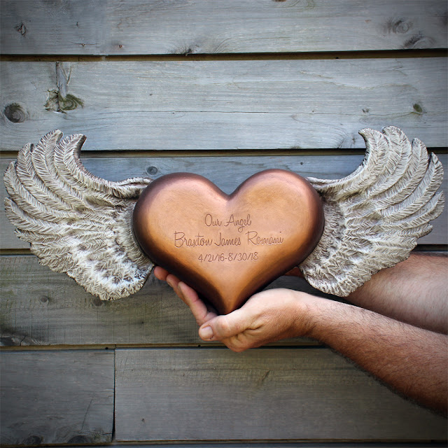 winged heart urn for ashes