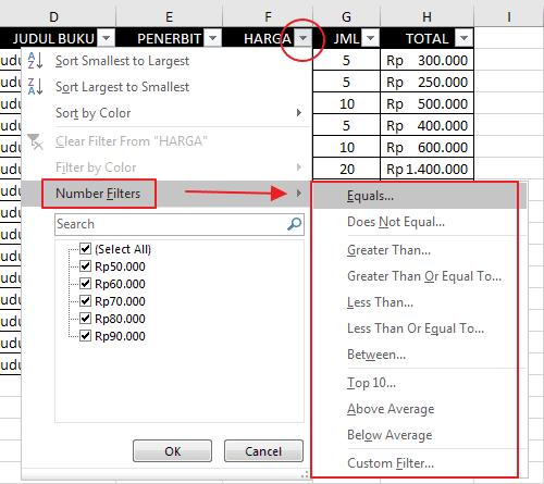 Autofilter Data Pada Excel 12
