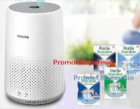 Logo Concorso ''Respira il benessere'' : con Rinazina vinci 121 purificatori d'aria  Philips