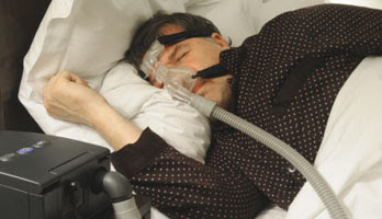 CPAP Machine in Use - Source: Alabama Board of Home Medicine - http://www.homemed.alabama.gov/