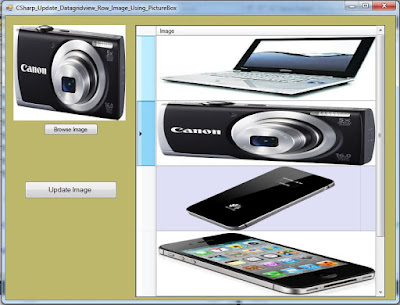 Update DataGridView Row Cell Image With PictureBox In C#