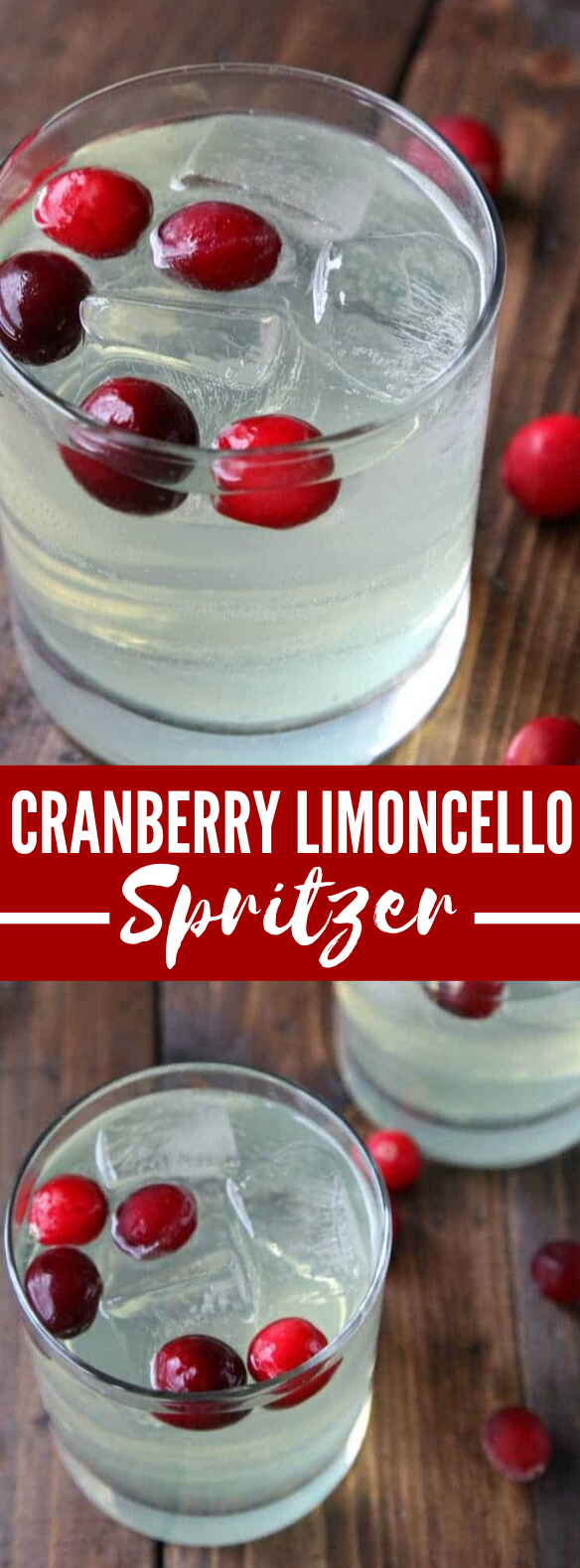 CRANBERRY LIMONCELLO SPRITZER COCKTAIL RECIPE (ITALIAN COCKTAIL) #drinks #christmas