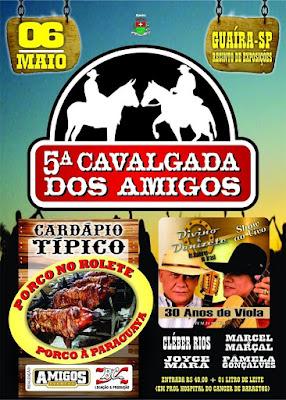 5ª Cavalgada dos Amigos Guaíra SP 2018