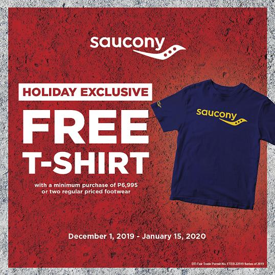 FREE SAUCONY SHIRT!
