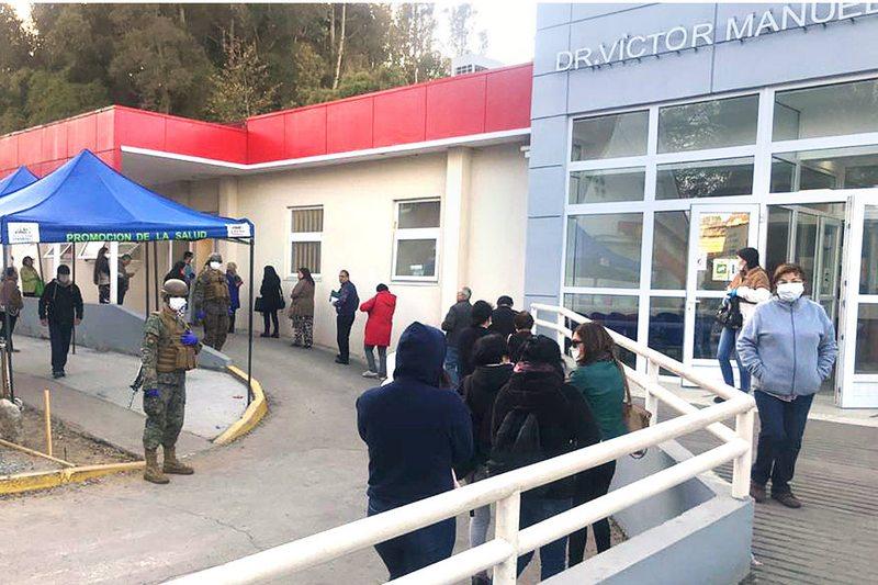 En Concepción aplican multas de hasta $250.000 por no respetar la distancia en las filas
