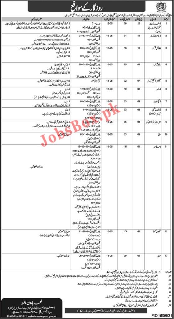Pakistan Bait ul Mal PBM Jobs 2021 – Apply Online – www.pbm.gov.pk