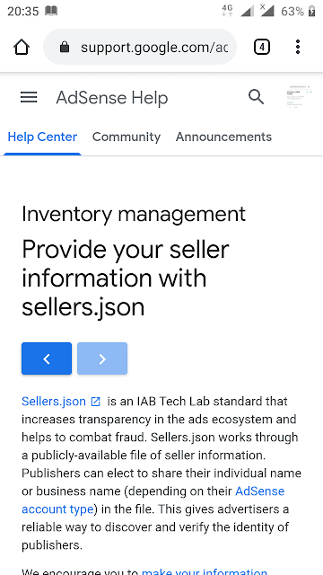 help to We encourage you to publish your seller information in the Google sellers.json file.