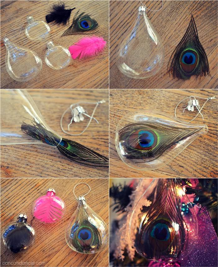 Can Can Dancer: DIY Feather Ornaments