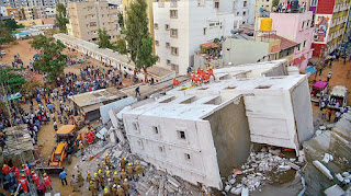 Indian city of Bengaluru building collapse