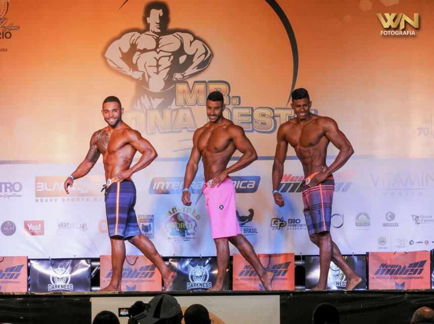 Luan Madureira competiu na categoria Men's Physique acima de 1,78 m no Mr. Zona Oeste 2017. Foto: Willian Netto