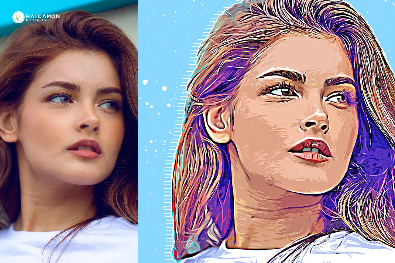 Vector Art Painting Effect Photoshop Action 2701011