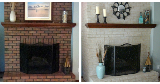Fireplace Decorating Use Brick Fireplace Paint To