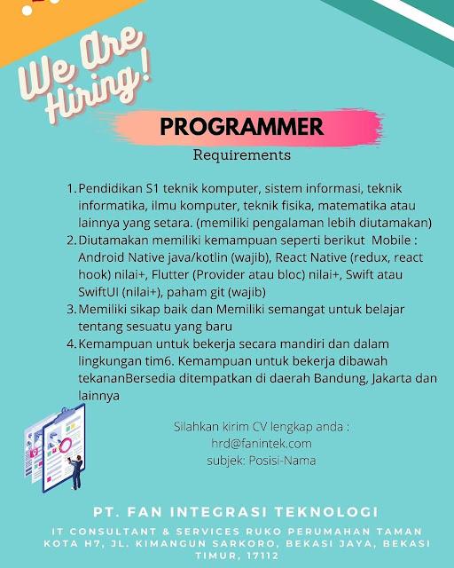 Lowongan Kerja Mobile Programmer