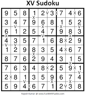 XV Sudoku (Fun With Sudoku #183) Puzzle Answer