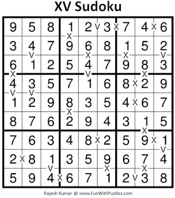 XV Sudoku (Fun With Sudoku #183) Puzzle Answer