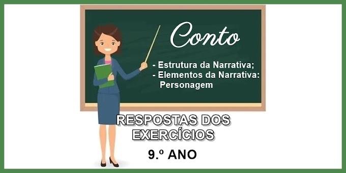 RESPOSTAS DOS EXERCÍCIOS sobre Contos - 9.º Ano - Aula 07 - Dia 26/03/21