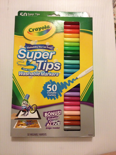 Crayola Markers, washable markers, waterbased mar4kers, art supply review, Nattosoup