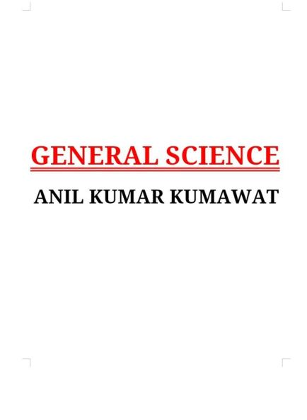 General Science : For all Competitive Examinations