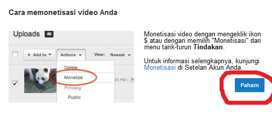 monetisasi seluruh video