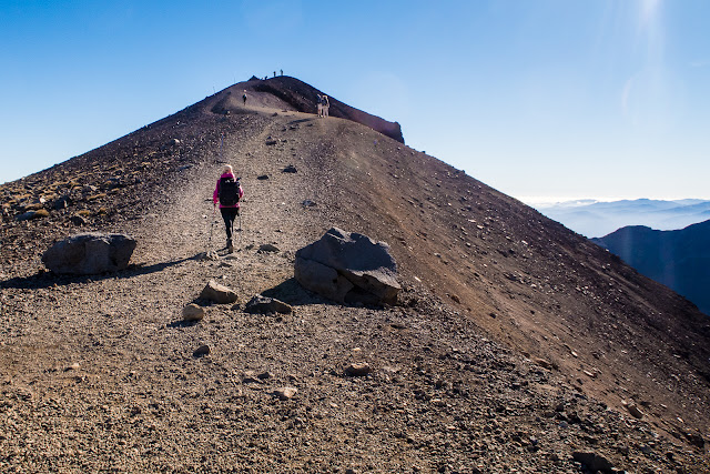 Last uphill to Red Crater