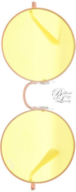 Brilliant Luxury ♦ RayBan RB3592 Ja-Jo yellow round sunglasses