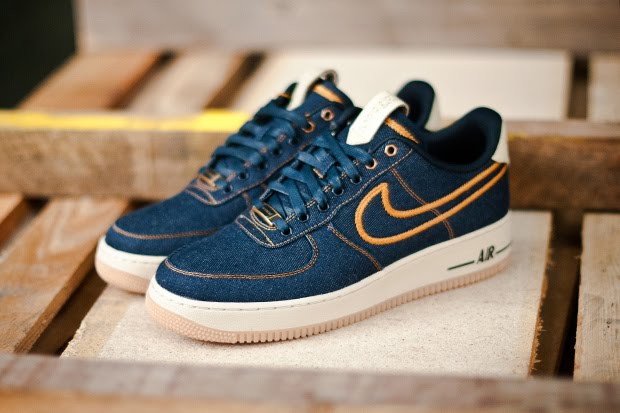 check out 1b32e 93b53 Nike Air Force 1 Low Premium Denim Sneaker