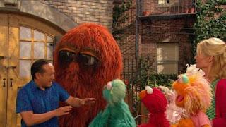 Elmo, Rosita, Gina, Snuffy, Zoe, Alan, Sesame Street Episode 4321 Lifting Snuffy season 43