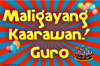 Maligayang Kaarawan Guro
