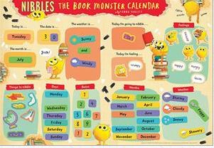 Nibbles the Book Monster Magnetic Calendar
