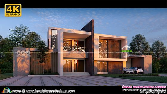 Luxury contemporary Kerala home design