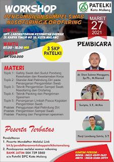 DPC PATELKI Kota Malang   Workshop Pengmabilan Sampel Swab Nasofaring dan Orofaring