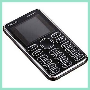 EASTBLUE Credit Size Mobile Phone [HITAM] - OMHP0HBK