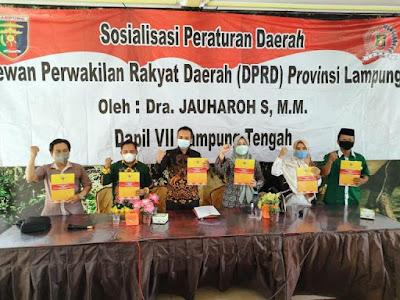 Jauharoh Haddad Sosialisasikan Perda Tentang Adaptasi Kebiasaan Baru (AKB)