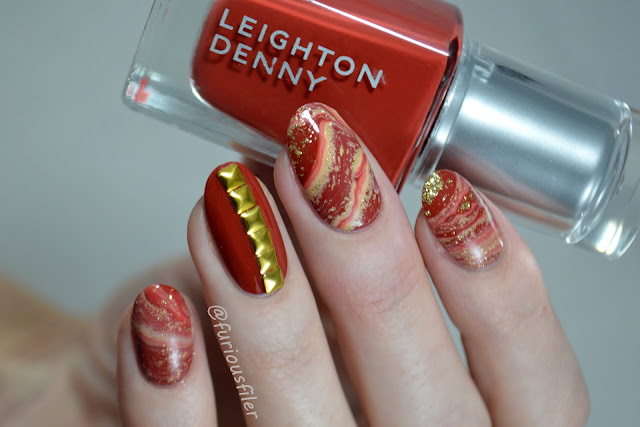 studded red glamorous druzy gem nails meebox furiousfiler