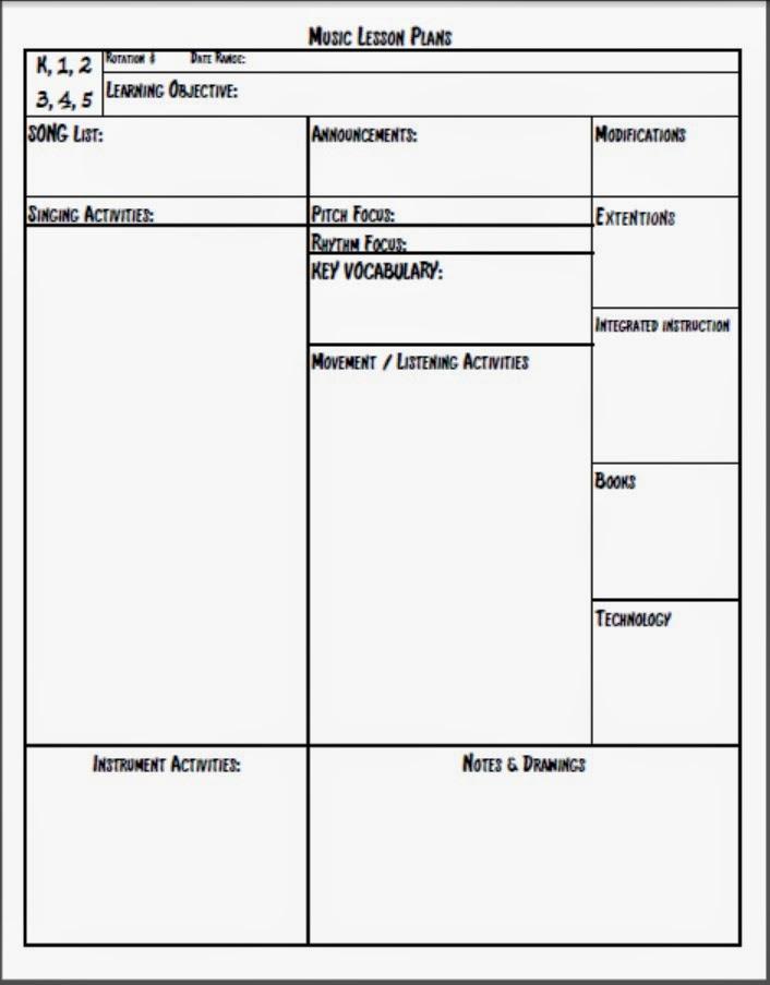 screenshot of ms word teacher software. lesson plan templates ...