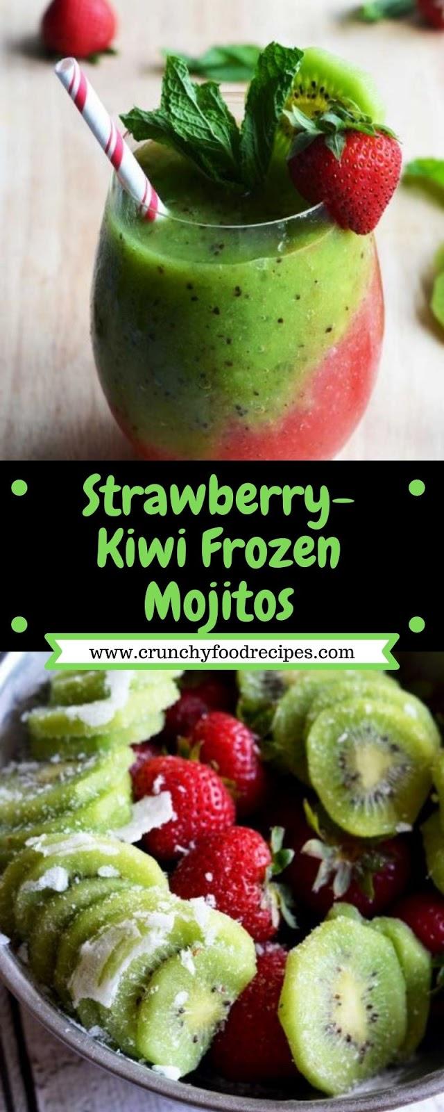 Strawberry-Kiwi Frozen Mojitos