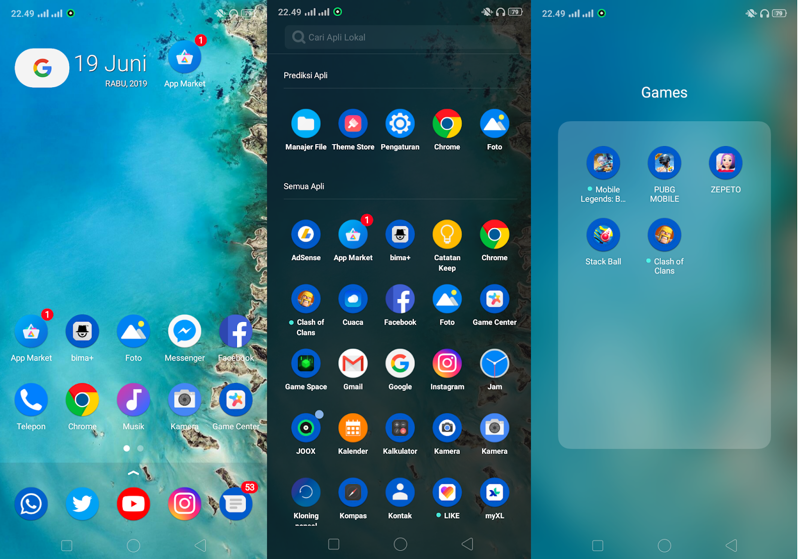 Download Themes Custom Android Pie UI for OPPO dan Realme