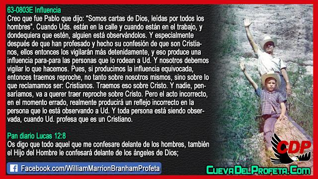 Cuando Usted profesa que es un Cristiano entonces lo vigilarán - Citas William Branham Mensajes
