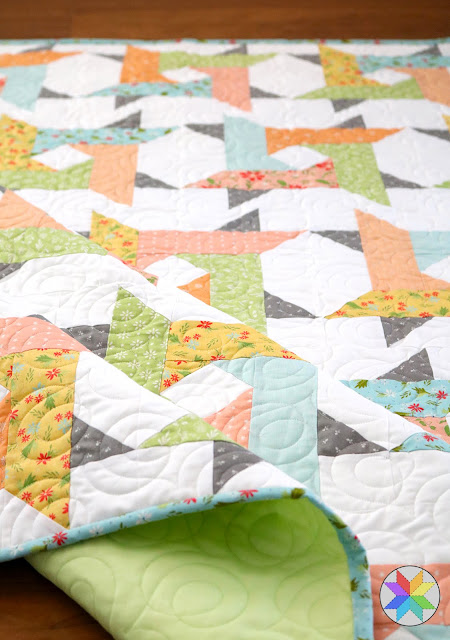 Windy City quilt pattern from A Bright Corner - a layer cake pattern in four sizes but you can also use jelly roll strips, yardage, or fat quarters