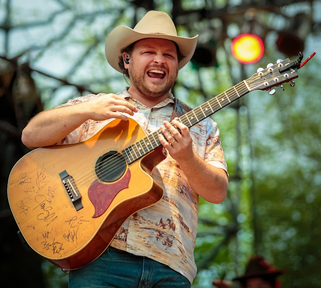 Josh Abbott Band performing at the Nutty Brown Amphitheatre in Austin, Texas