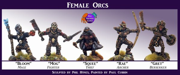 The Dice Bag Lady: New Fantasy Female Orc Characters