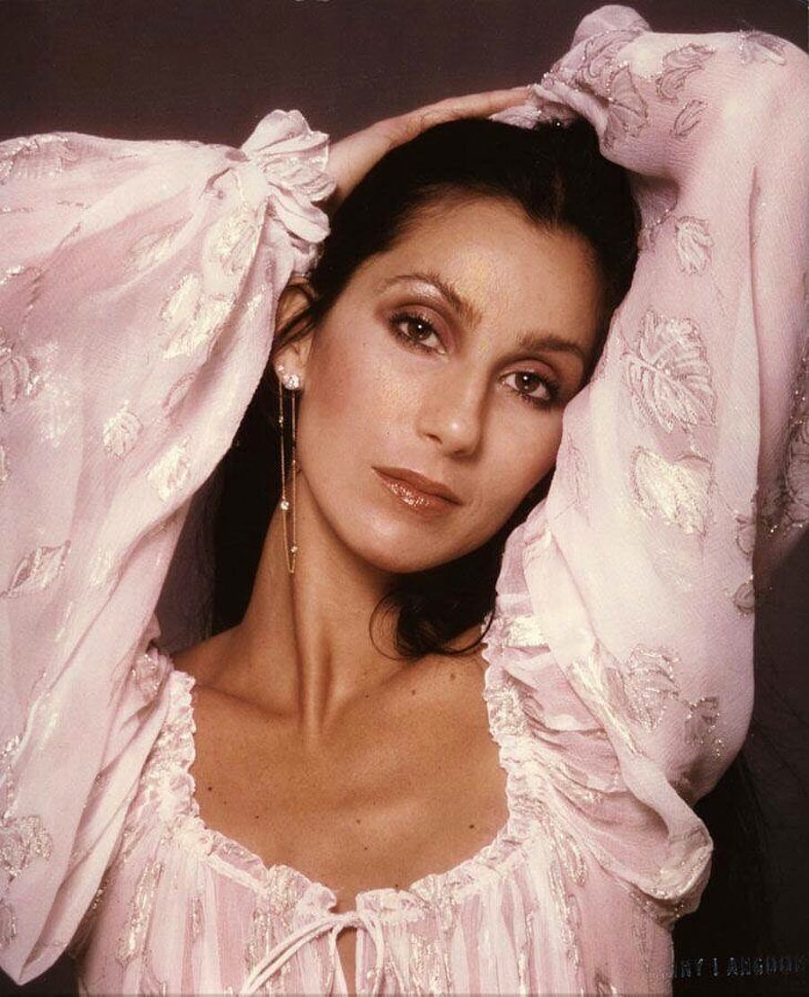 Cher, photographed by Harry Langdon, 1979/1982. | fashion, inspiration, aesthetic, victorian, pink, feminine, vintage, romantic, bohemian, jewelry | Allegory of Vanity