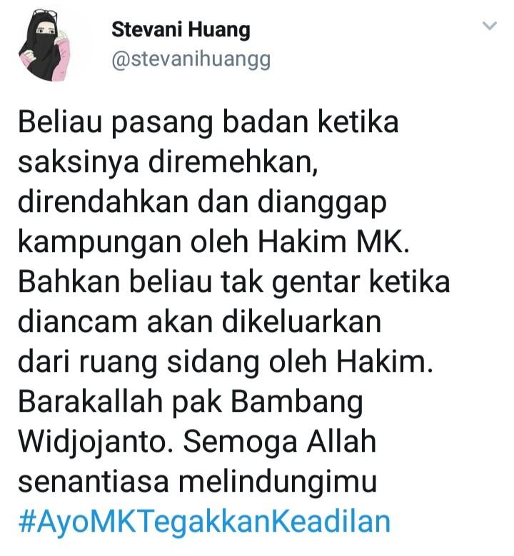 Berani Pasang Badan Bela Saksi, Netizen Puji Bambang Widjojanto